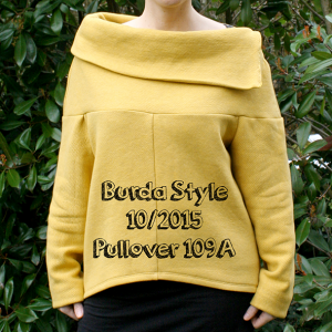 500 days of sewing: Burda Pullover
