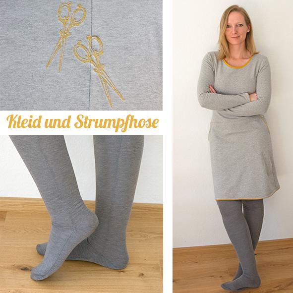 sweatshirtkleid und selbstgen hte strumpfhose 500 days. Black Bedroom Furniture Sets. Home Design Ideas